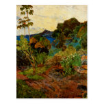 Paisaje de Martinica de Paul Gauguin (1887) Postal