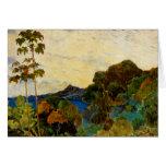 Paisaje de Martinica de Paul Gauguin (1887) Felicitaciones