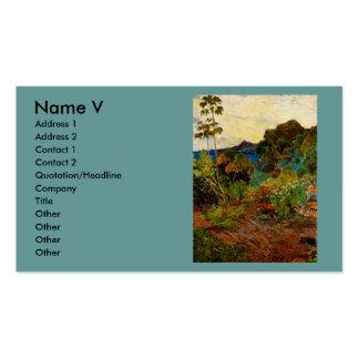 Paisaje de Martinica de Paul Gauguin (1887) Tarjetas De Visita