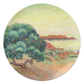 Paisaje de Midi, 1898 (aceite en lona) Plato Para Fiesta