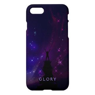 Paisaje de motivación de la violeta de la gloria funda para iPhone 7