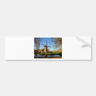 paisaje de Netherland del molino de viento Pegatina Para Auto