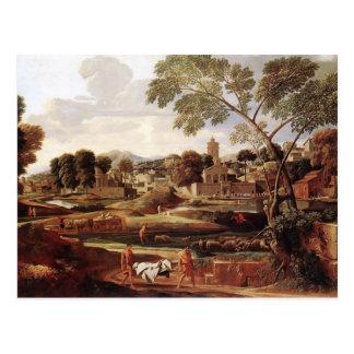 Paisaje de Nicolás Poussin- con el entierro de Pho Postal