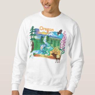 Paisaje de Oregon y camiseta de la fauna Suéter
