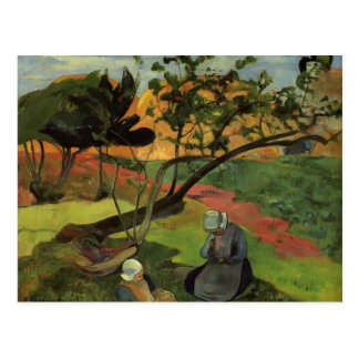 Paisaje de Paul Gauguin- con dos mujeres bretonas Postales