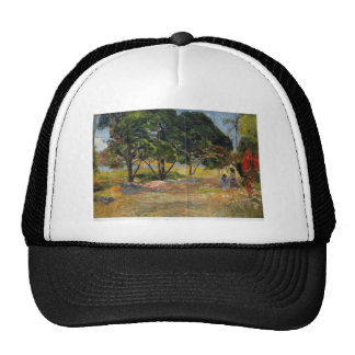 Paisaje de Paul Gauguin- con tres árboles Gorros