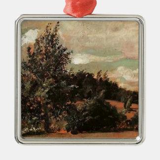 Paisaje de Pavel Filonov-. Viento Ornamentos De Navidad