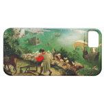 Paisaje de Pieter Bruegel con la caída de Ícaro iPhone 5 Cárcasas