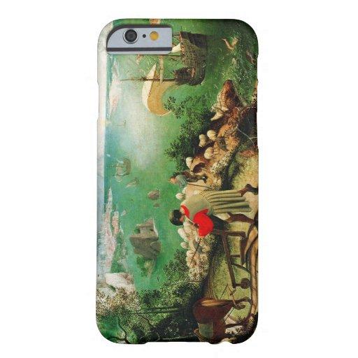 Paisaje de Pieter Bruegel con la caída de Ícaro Funda De iPhone 6 Barely There