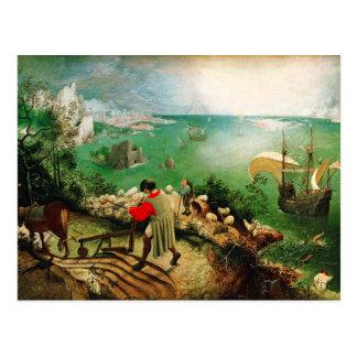 Paisaje de Pieter Bruegel con la caída de Ícaro Postales