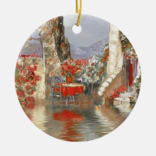 Paisaje de Provence Adornos De Navidad
