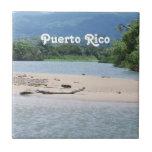 Paisaje de Puerto Rico Azulejo Cuadrado Pequeño