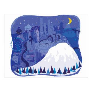 Paisaje de Seattle con el Monte Rainier Postal