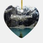 Paisaje de Suiza Ornamentos De Navidad
