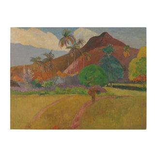 Paisaje de Tahitian, 1891 (aceite en lona) Cuadros De Madera