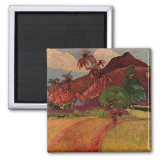 Paisaje de Tahitian de Paul Gauguin 1893 Imán Para Frigorífico