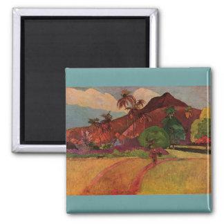 Paisaje de Tahitian de Paul Gauguin 1893 Imanes