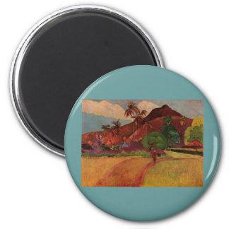 Paisaje de Tahitian de Paul Gauguin 1893 Iman De Nevera