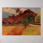 Paisaje de Tahitian de Paul Gauguin (1893) Posters