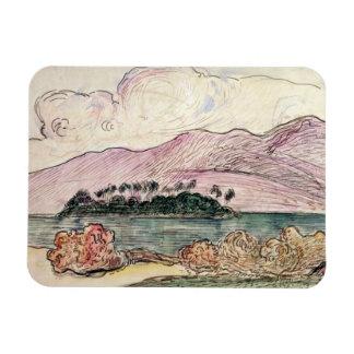 Paisaje de Tahitian w c en el papel Iman