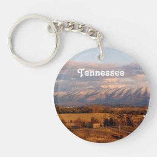 Paisaje de Tennessee Llavero Redondo Acrílico A Una Cara