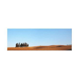 Paisaje de Toscana con la lona del panorama de los Impresiones De Lienzo