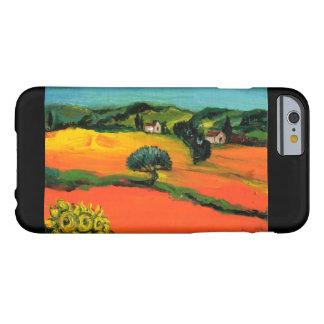 PAISAJE DE TOSCANA CON LOS GIRASOLES FUNDA BARELY THERE iPhone 6
