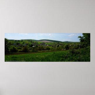 Paisaje de UltraWide de las colinas de Markova Ucr Impresiones