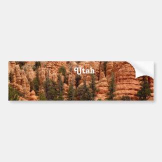 Paisaje de Utah Etiqueta De Parachoque