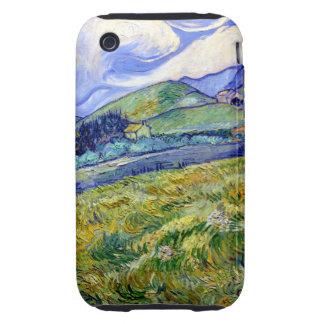 Paisaje de Van Gogh de St Remy iPhone 3 Tough Carcasas