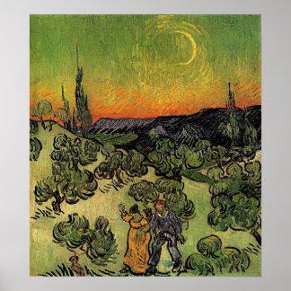 "Paisaje de Van Gogh el ""con el poster que camina d"