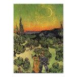 Paisaje de Van Gogh el 'con los pares Walking Anuncio