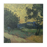 Paisaje de Van Gogh en el crepúsculo 1890 Teja Ceramica