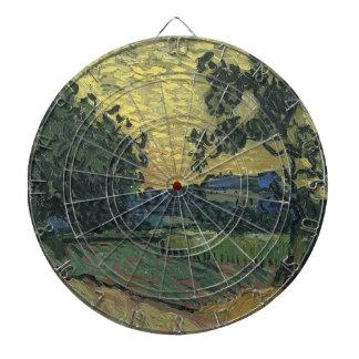 Paisaje de Van Gogh en el crepúsculo 1890 Tabla Dardos
