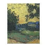 Paisaje de Van Gogh en el crepúsculo 1890 Lona Estirada Galerías