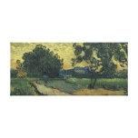 Paisaje de Van Gogh en el crepúsculo 1890 Impresiones En Lienzo Estiradas