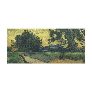 Paisaje de Van Gogh en el crepúsculo 1890 Impresiones De Lienzo