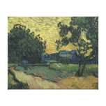 Paisaje de Van Gogh en el crepúsculo 1890 Lienzo Envuelto Para Galerías