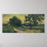 Paisaje de Van Gogh en el crepúsculo 1890 Impresiones