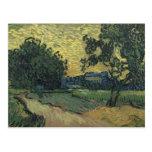 Paisaje de Van Gogh en el crepúsculo 1890 Postal