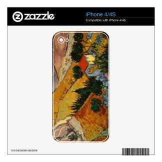 Paisaje de Vincent van Gogh el   con la casa y el Calcomanías Para El iPhone 4S