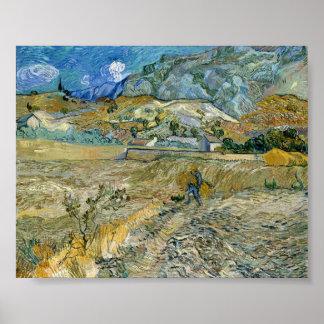 Paisaje de Vincent van Gogh en el poster del Santo