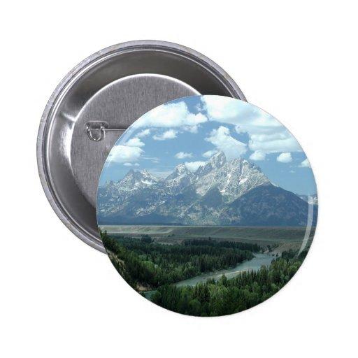 Paisaje de Wyoming Pin Redondo 5 Cm