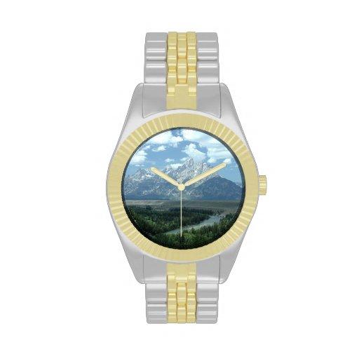 Paisaje de Wyoming Relojes De Mano