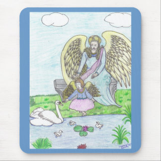Paisaje del ángel mousepads