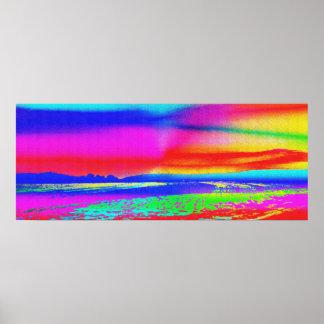 Paisaje del arco iris impresiones