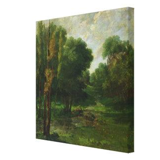 Paisaje del bosque, 1864 impresión en lienzo