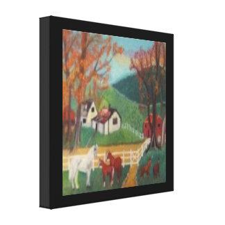 Paisaje del caballo impresiones de lienzo