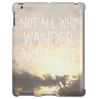 Paisaje del cielo de la oscuridad del amanecer con funda para iPad