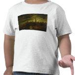 Paisaje del claro de luna camiseta